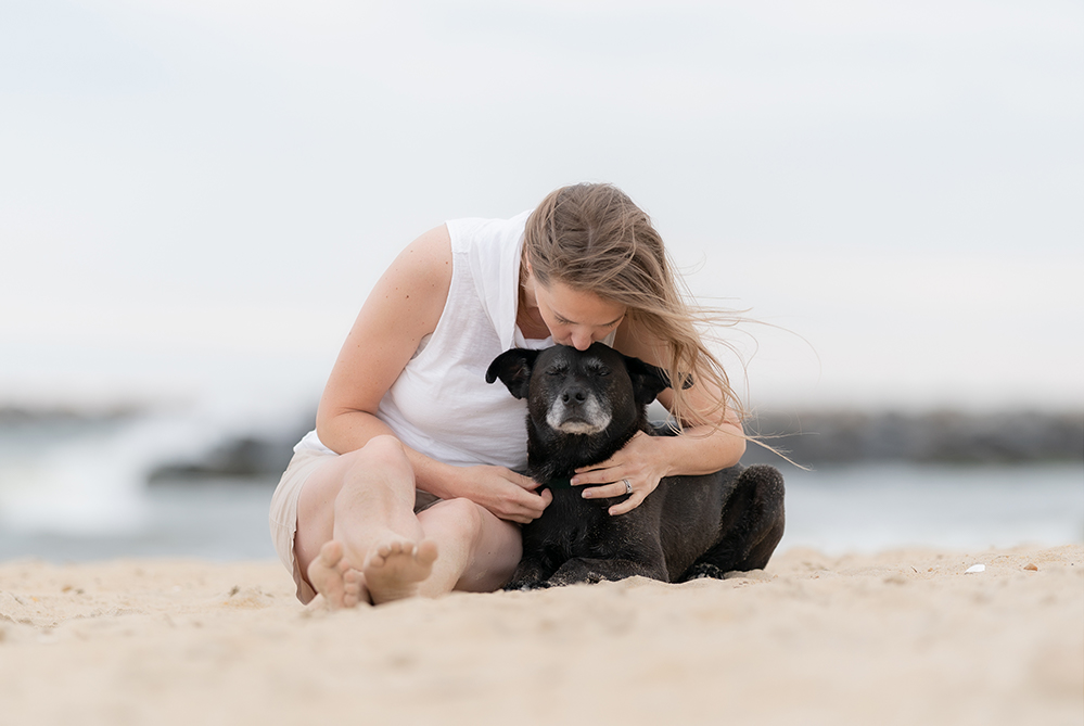 Bond of love between human and dog