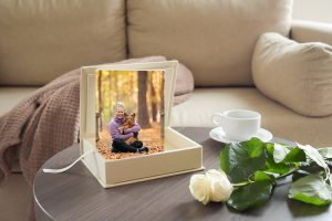 A keepsake box with heirloom images